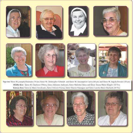 Sisters of the Holy Family Jubilarians for 2010