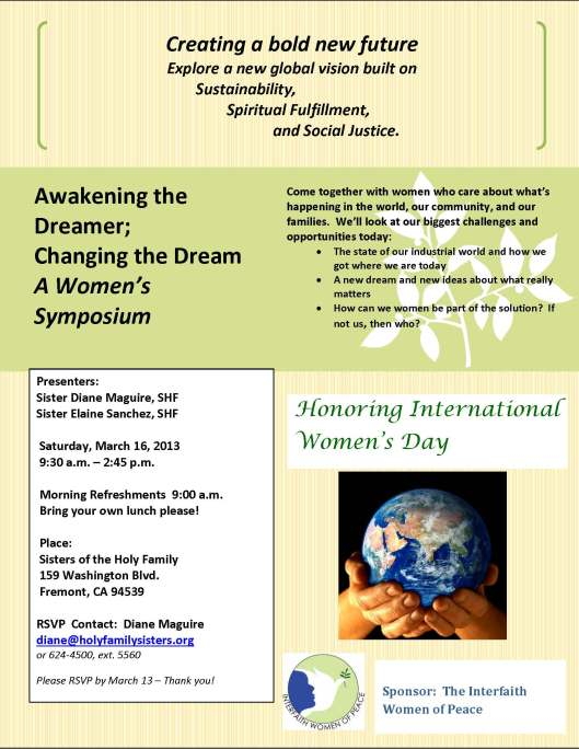 Awakening the Dreamer; Changing the Dream A Women's Symposium